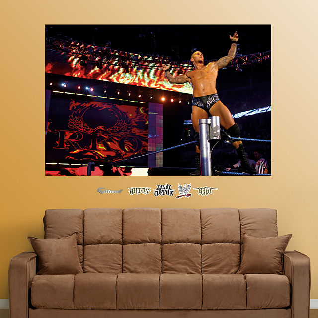 fathead randy orton wwe wall mural wwe ric flair peel and stick wall decal wayfair