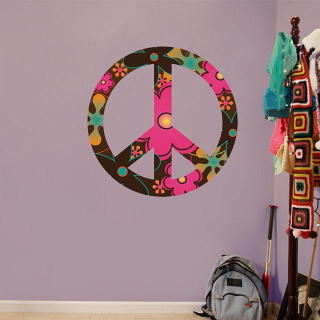 Fathead Peace Sign Peel and Stick Wall Graphics - Wall Sticker Outlet