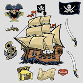 Fathead Pirates Peel and Stick Wall Sticker
