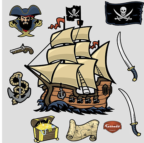 Fathead Pirates Peel and Stick Wall Sticker - Wall Sticker Outlet