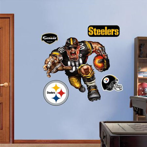 Fathead Pittsburgh Steelers Extreme Logo Real Big - Kids Wall Decor Store