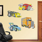 Fathead Race Cars Peel and Stick Wall Graphic