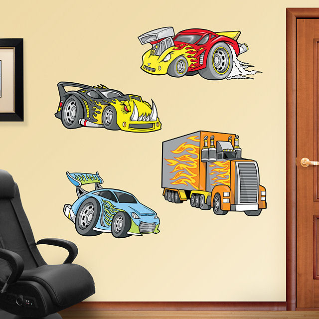 Fathead Race Cars Peel and Stick Wall Graphic - Wall Sticker Outlet