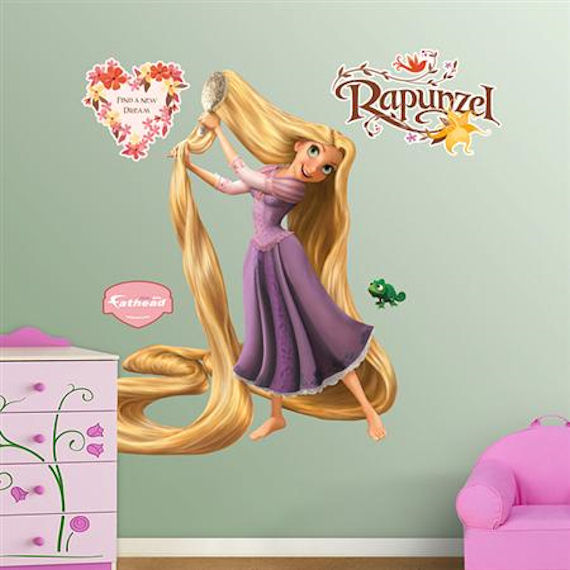 Fathead Rapunzel Tangled Wall Sticker - Wall Sticker Outlet