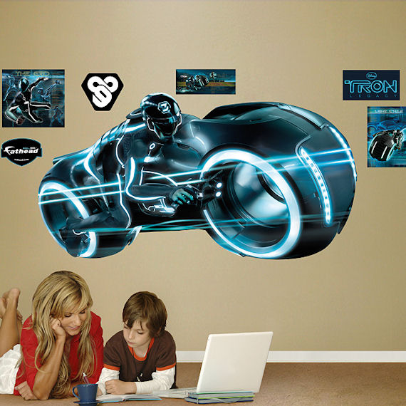 Sam Flynn Light Cycle Tron Fathead Wall Sticker - Wall Sticker Outlet