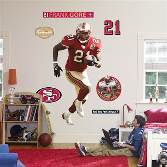 Fathead san francisco 49ers frank gore real big for 49ers wall mural