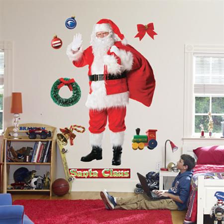 Fathead Santa Claus Wall Graphic - Wall Sticker Outlet