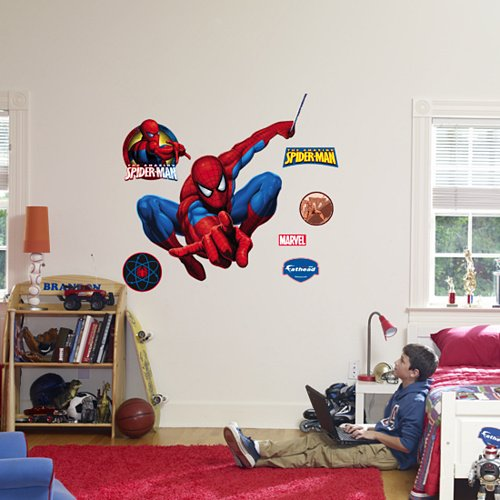 Fathead Spiderman Peel Stick Wall Graphic - Kids Wall Decor Store