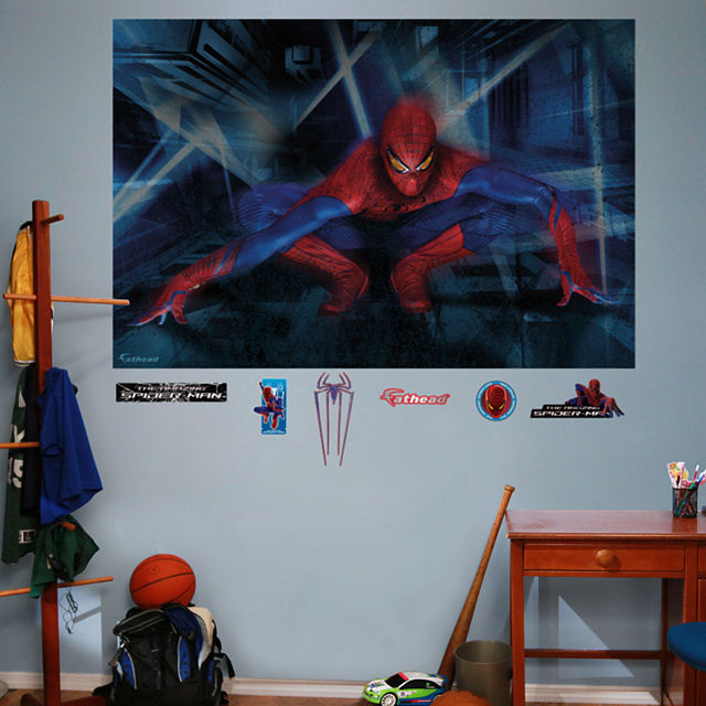 Fathead amazing spiderman crouching wall mural - Poster mural spiderman ...