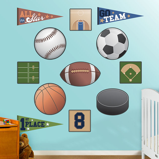Fathead Sports Collection Peel Stick Wall Graphic - Wall Sticker Outlet