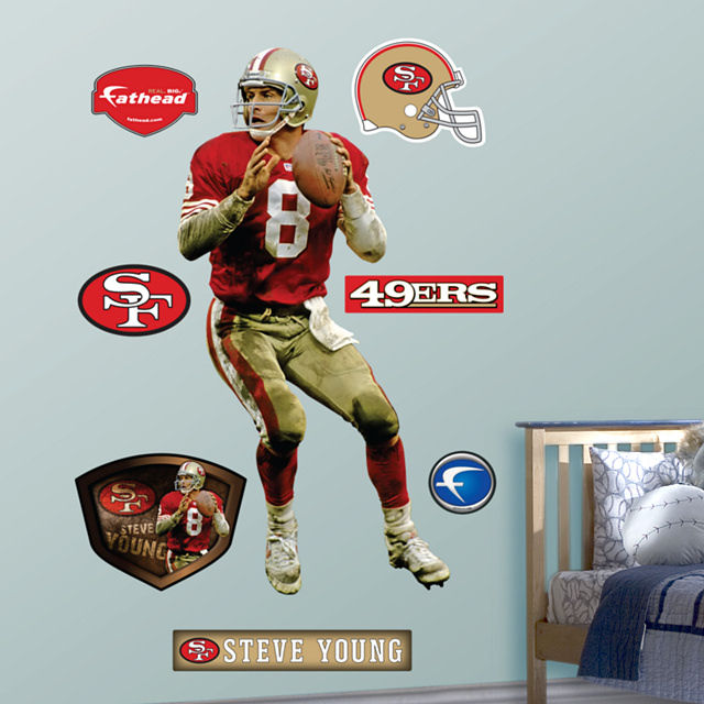 Fathead steve young san francisco 49ers for 49ers wall mural