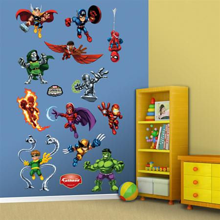 Fathead Super Hero Squad Wall Graphic - Kids Wall Decor Store