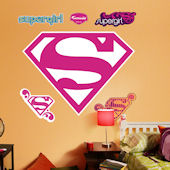 Supergirl Logo Fathead Wall Sticker