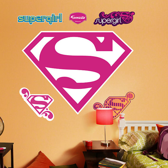 Supergirl Logo Fathead Wall Sticker - Wall Sticker Outlet