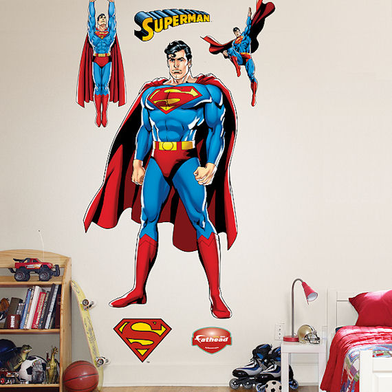 Superman Justice League Fathead Wall Sticker - Wall Sticker Outlet
