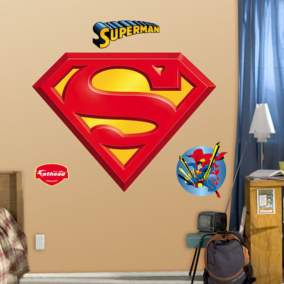 Superman Logo Fathead Wall Sticker - Wall Sticker Outlet