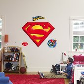 Fathead Superman Logo Peel Stick Wall Graphic
