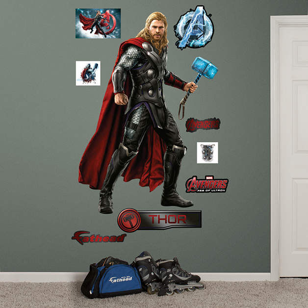 Fathead Avengers Age of Ultron Thor Decal - Wall Sticker Outlet