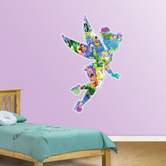 fathead disney fairies montage wall sticker wall mural photo wallpaper xxl disney fairies tinker bell