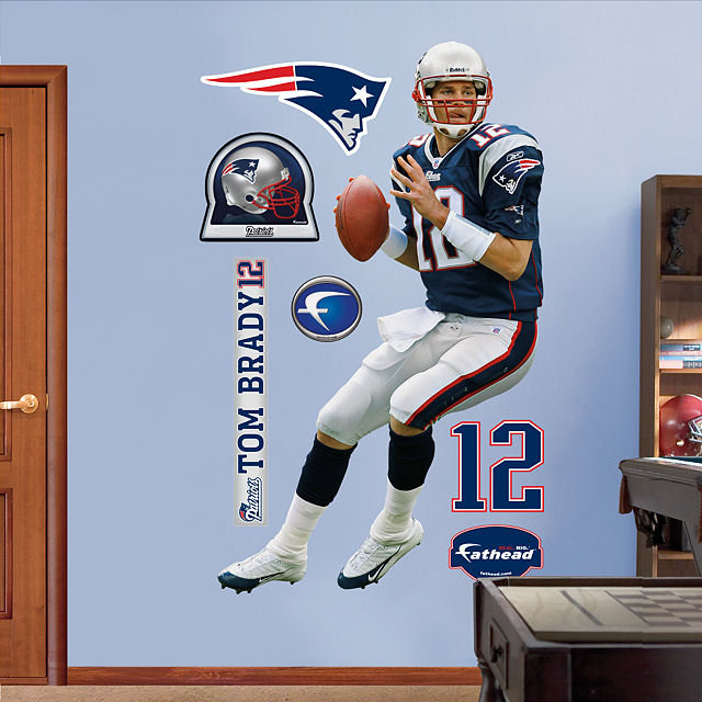 sc 1 st  Wall Sticker Outlet & Fathead Tom Brady New England Patriots