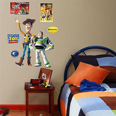 Toy Story Buzz Lightyear Woody Fathead  Junior - Wall Sticker Outlet