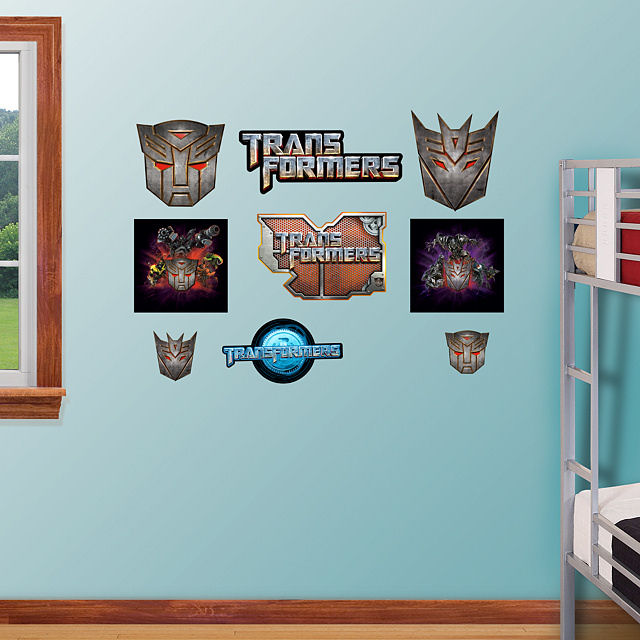Fathead Transformers Logo Assortment Stickers - Wall Sticker Outlet