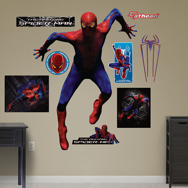 Fathead amazing spiderman wall climbing sticker