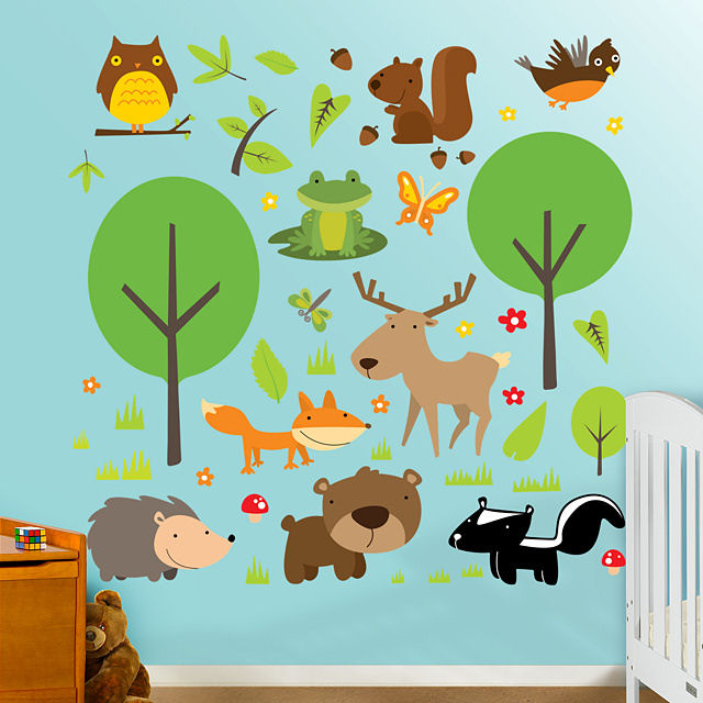 Fathead Wildlife Peel and Stick Wall Graphics - Wall Sticker Outlet
