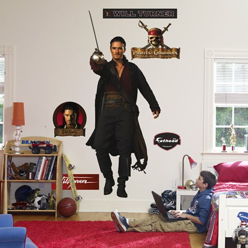 Fathead Will Turner Pirates Wall Graphic - Kids Wall Decor Store