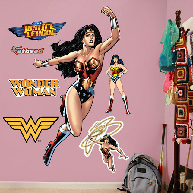 Fathead Wonder Woman in Action Decal - Wall Sticker Outlet