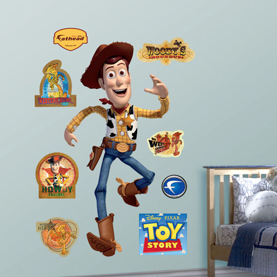 Toy Story Woody Fathead Wall Sticker - Wall Sticker Outlet