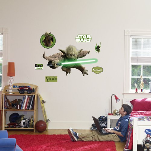 Fathead Star Wars Yoda Peel Stick Wall Graphic - Wall Sticker Outlet