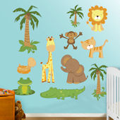 Fathead Zoo Animals Peel and Stick Wall Graphics