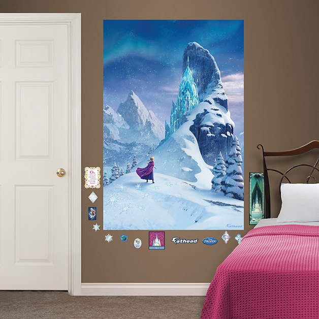 Fathead Frozen Snow Queen Elsa Castle Wall Mural  - Wall Sticker Outlet