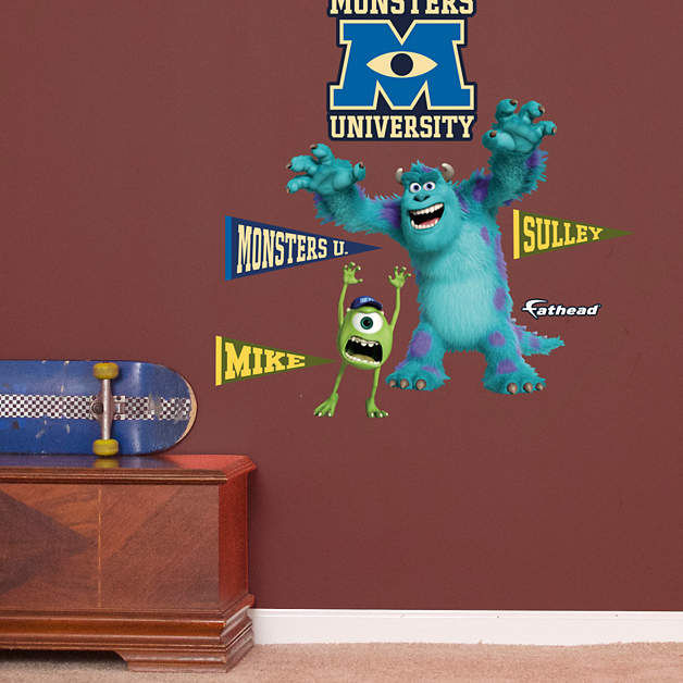 Fathead Disney Monsters Inc Mike and Sulley Jr - Wall Sticker Outlet