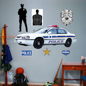 Fathead Police Car Peel and Stick Wall Graphic
