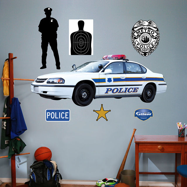 Fathead Police Car Peel and Stick Wall Graphic - Wall Sticker Outlet