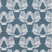 Ferm Living Birds Gray Off White Wallpaper