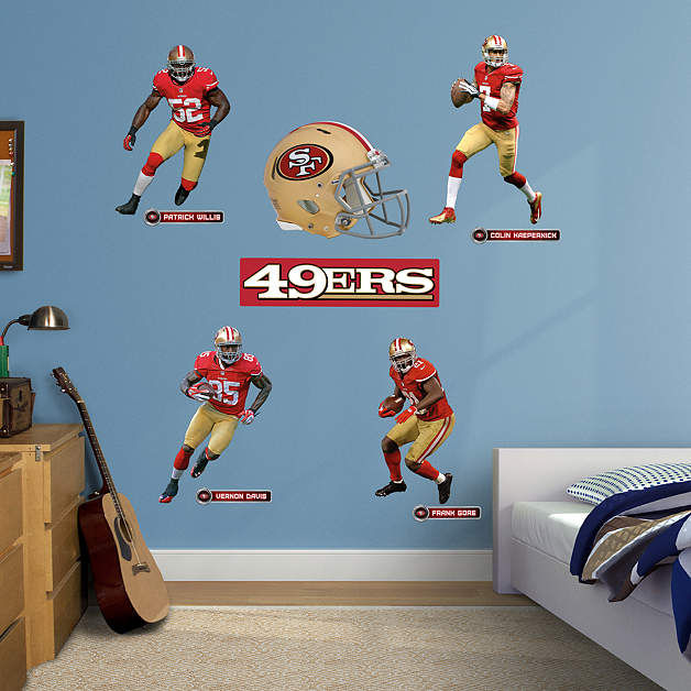 fathead san francisco 49ers power pack decals