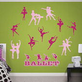 Fathead Ballerina Collection Wall Graphic
