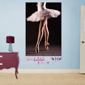 Fathead Ballerina Pointe Mural Wall Graphic