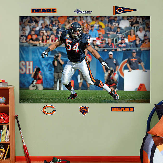 fathead chicago bears brian urlacher in your face