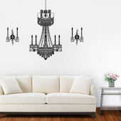 Fathead Martha Stewart Chandelier Sconces Decal