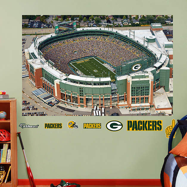 Exceptional Fathead Green Bay Packers Lambeau Field Airiel   Wall Sticker Outlet Part 24