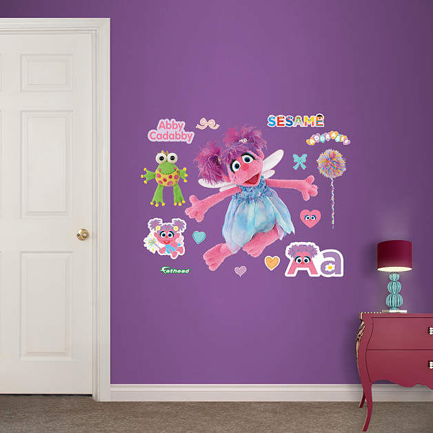 Fathead Sesame Street Abby Cadabby Jr Wall Graphic - Wall Sticker Outlet