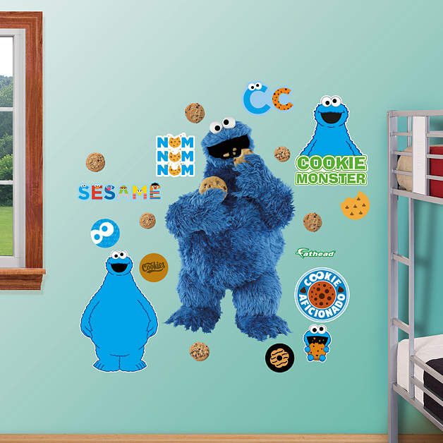 Fathead Sesame Street Cookie Monster Wall Graphic - Wall Sticker Outlet