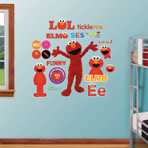 Fathead Sesame Street Elmo Wall Graphic - Wall Sticker Outlet