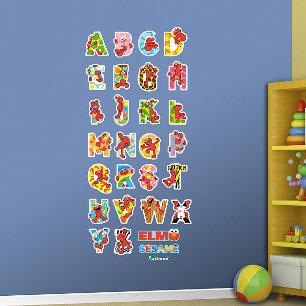 Fathead Sesame Street Elmo Alphabet Wall Graphic - Wall Sticker Outlet