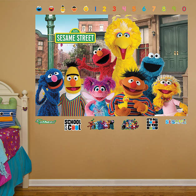 Fathead Sesame Street Group Mural Wall Graphic - Wall Sticker Outlet