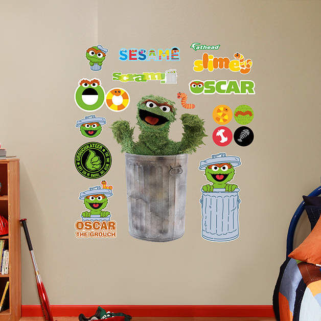 Fathead Sesame Street Oscar The Grouch Graphic - Wall Sticker Outlet